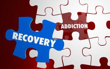 Addiction Recovery Kick Habit Puzzle Words 3d Illustration